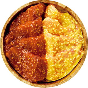 〈肉の山本〉お焼きとん漬 赤・白セット LH-45
