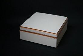 6.5寸校倉重箱 白(内塗りなし) 1段セット 【お花見 運動会 お正月 弁当 仕出し 結婚式 法事 テイクアウト 持ち帰り 容器】【日本製】【Made in Japan, Special price, Lacquered box, Lunch box, Celebration, Party, Picnic】