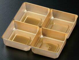 65寸重箱用A-PET仕切 十字 金色【使い捨て 薄い PET仕切 お正月 運動会 お花見 弁当 おせち 一体型】【日本製】【あす楽対応】【Partition for lacquered lunch box】*This product does not include box, just partition* *Disposable* *Domestic shipping only*