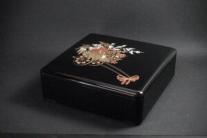 7寸角重箱 花車 1段セット 【お花見 運動会 お正月 おせち重 弁当 仕出し 結婚式 法事 テイクアウト 持ち帰り 容器】【日本製】【Made in Japan, Special price, Lacquered box, Lunch box,