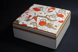 6.5寸校倉重箱 白(内塗りなし)折鶴 1段セット 【お花見 運動会 お正月 弁当 仕出し 結婚式 法事】【日本製】【新入荷】【Made in Japan, Special price, Lacquered box, Lunch box, Celebration, Party, Picnic】*Domestic shipping only*