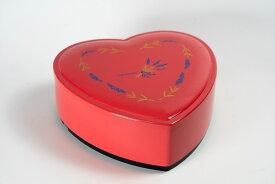 ハートちらし 大 ピンク ラベンダー 蓋付1段セット 【在庫限り 特価 お花見 運動会 おせち重 弁当】【一人用 少人数】【日本製】【Made in Japan, Special price, Lacquered box, Lunch box, Celebration, Party, Picnic】*Domestic shipping only*
