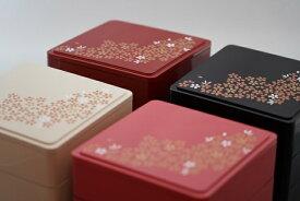 5.0寸角重箱 桜 1段セット 【小さい お花見 運動会 お正月 おせち重 弁当 仕出し 結婚式 法事 テイクアウト 持ち帰り 容器】【日本製】【Made in Japan, Special price, Lacquered box, Lunch box, Celebration, Party, Picnic】