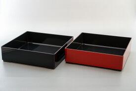 6.5寸角重箱 本体 【お花見 運動会 お正月 おせち重 弁当 仕出し 結婚式 法事 テイクアウト 持ち帰り 容器】【日本製】【Made in Japan, Special price, Lacquered box, Lunch box, Celebration, Party, Picnic】*Domestic shipping only*