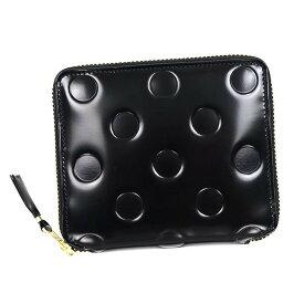 コムデギャルソン ラウンドファスナー財布[COMME des GARCONS 財布](コム・デ・ギャルソン 財布 COMMEdesGARCONS サイフ さいふ )二つ折り財布 コムデギャルソン ドットエンボスブラック SA2100NE