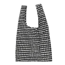 【ネコポス可280円】マリメッコ エコバッグ marimekko SMART BAG RASYMATTO 048855 190 ラシィマット ホワイト/ブラック