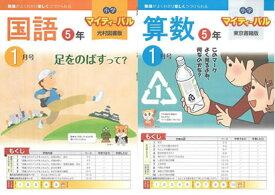 JPN(株)発行「マイティパル」5年生国語・算数(4月号〜3月号迄)(12回で、配本)