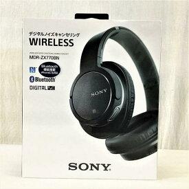 【新品・未開封】 ソニー / SONY MDR-ZX770BN/BM ワイヤレスノイズキャンセリングステレオヘッドセット ブラック 10007466