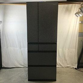 【中古品】 パナソニック NR-F607WPX-H 6ドア冷蔵庫 AIエコナビ フレンチドア 2021年製 600L ミスティスチールグレー 10010684
