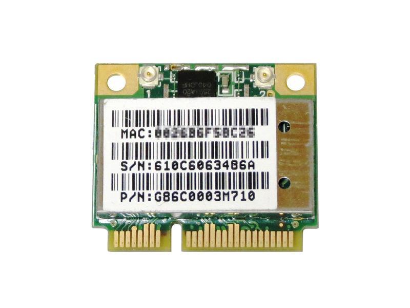 Atheros AR5BHB92 AR9280 デュアルバンド 2.4/5GHz 2x2 a/b/g/n 300Mbps PCIe mini half 無線LANカード