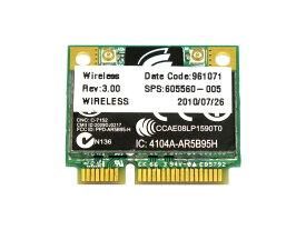 HP純正 605560-005 Atheros AR5B95 AR9285 シングルバンド 2.4GHz b/g/n 150Mbp PCIe mini half 無線LANカード