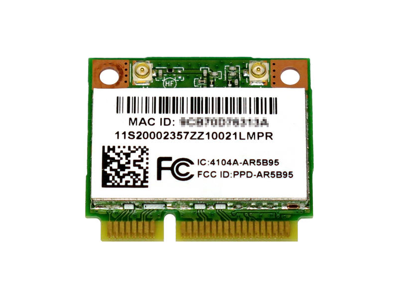 Lenovo純正 20002357 Atheros AR5B95 AR9285 b/g/n 無線LANカード for Lenovo G470 G475 G560 G570 G575 G480 G485 G580 G585 G780