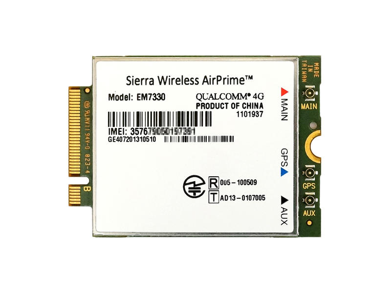 Sierra Wireless AirPrime EM7330 M.2 4G, LTE, 3G, GSM, HSPA+ WCDMA対応 WWAN ワイヤレスWANモジュール