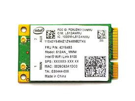 Lenovo純正 43Y6493 インテル Intel Wireless WiFi Link 5100 802.11a/b/g/n 300Mbps PCIe Mini 無線LANカード for Lenovo Thinkpad X200/X200s/X200 Tablet/X300/X301/T400/T500/R400/R500/W500/SL300/SL400/SL400c/SL500/SL500c/Lenovo 3000 N500/G550