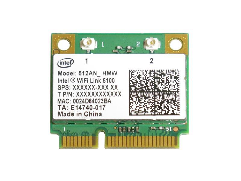 インテル Intel Wireless WiFi Link 5100 802.11a/b/g/n 300Mbps PCIe Mini half 無線LANカード 512ANHMW