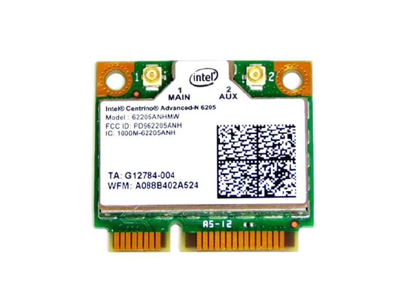 インテル Intel Centrino Advanced-N 6205 Dual Band 2.4GHz/5GHz 802.11a/b/g/n 300Mbps PCIe Mini half 無線LANカード 62205ANHMW