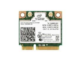 インテル Intel Dual Band Wireless-N 7260 + Bluetooth 2.4/5GHz 2x2 802.11a/b/g/n + Bluetooth 4.0 PCIe Mini half 無線LANカード 7260HMW AN