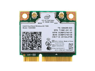 Intel Dual Band Wireless-AC 7260 7260HMW 802.11ac 867Mbps无线LAN卡