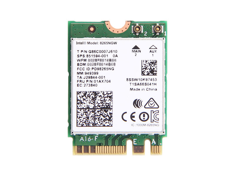 HP純正 851592-001 851594-001 Intel Dual Band Wireless-AC 8265 802.11ac/agn 867Mbps Wi-Fi + Bluetooth 4.2 無線LANカード 8265NGW for HP EliteBook 820/840/848/850 G4, HP ProBook 430/440/470 G5