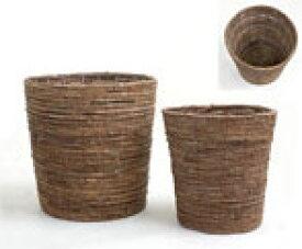 観葉植物 鉢カバー (ブラウン) 8号鉢用 インテリア アジアン おしゃれ 観葉植物 バナナリーフ 天然素材 バスケット