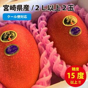 """母の日遅れてごめんね!宮崎マンゴー""""太陽のタマゴ""""大玉2Lサイズ以上2玉。宮崎完熟マンゴー!"""