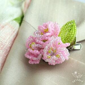 ビーズフラワー八重桜のブローチキット2