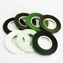 フローラテープ6mm細幅27m1巻バラ売り/ライトグリーン,ホワイト,ブラウン,モスグリーン,グリーン,ミント,オリーブ