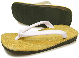 Polyurethane bottom leather-soled Sandals L size light sauce