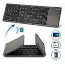 【送料無料】Hanmir キーボード Bluetooth keyboard折りたたみ式 タッチパッド搭載 ワイヤレスキーボード 無線 薄型 …