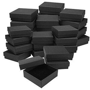 【クーポンあり】 あす楽 ギフトボックス アクセサリー ラッピングボックス ミニサイズ ギフト パッケージ プレゼント ピアス ネックレス 無地 シンプル 紙 箱 紙箱 蓋付き フタ 黒 ( ブラッ
