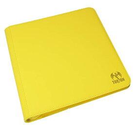 あす楽 トレーディングカード ファイル バインダー ホルダー 収納 ボックス ( 12ポケット 480枚 イエロー ) ポケモン カード トレカ ファスナー 付き 収納ファイル ストレイジボックス 大容量