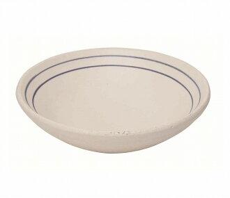藍色線湯盤子[餐具器抗熱盤子炖肉]