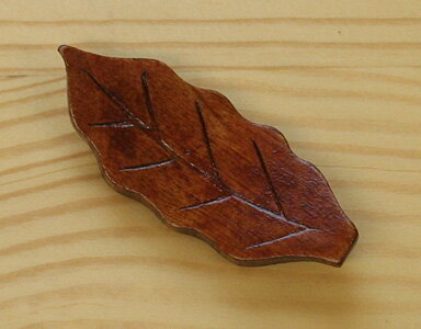 木製箸置き 葉っぱ 1個組 箱なし