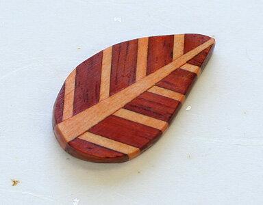 寄木箸置き リーフ 1個 箱なし
