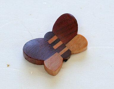 寄木箸置き 蝶 1個 箱なし
