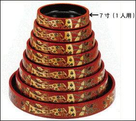 7寸(1人用)DX寿司桶 朱に結びG