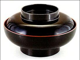 6寸華丼 黒内朱 1客 うな重 丼重 海鮮丼 越前漆器 丸型 椀型 大きめ 器
