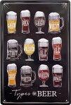 ブリキ看板アンティークエンボスプレートビア生ビールアメリカ雑貨ビールリスト