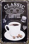 ブリキ看板アンティーククラッシックコーヒーショップカフェアメリカ雑貨/CLASSICCOFFEE
