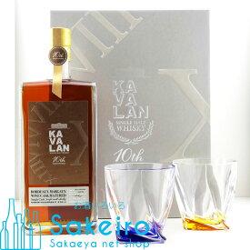 カヴァラン ボルドー マルゴー ワイン カスク ペアグラス付き カバラン10周年記念ボトル 57.8度 1000ml