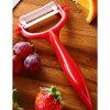 GP-302B-RD ceramic knife kitchen three points set (triple-purpose kitchen knife, peeler, cutting board) red steering wheel X black blade JAN: 4960664857036