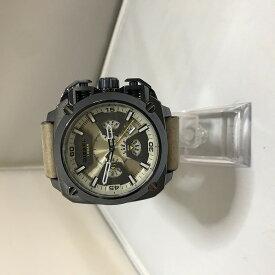 【中古】ディーゼル メンズ腕時計 SS 革 クオーツ デイト DZ-7342[jgg]