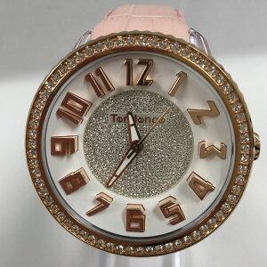 【中古】テンデンス レディース腕時計 グラム スワロフスキースタイル クオーツ ピンク ホワイト TY430141[jggW]