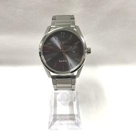 【中古】シチズン エコドライブ メンズ腕時計 ソーラー SS シルバー グレー文字盤 E111-S114128 GN-4-S[jggW]