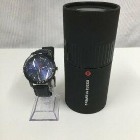 【中古】カバンドズッカ メンズ腕時計 SS レザー ブラック文字盤[jggW]