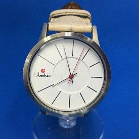 【中古】リベンハム レディース腕時計 ランドシャフト レザー ホワイト 自動巻き LH90036[jggW]