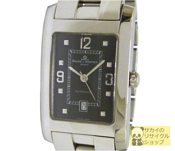 BAUME&MERCIER ボーム&メルシエ メンズ腕時計 ハンプトン SS 自動巻き ブラック文字盤【中古】