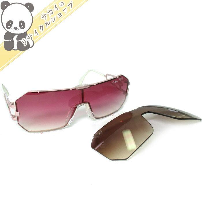 CAZAL カザール サングラス フレーム:ピンク×ホワイト レンズ:ピンク・ブラウン スペアレンズ 904/1-337 【美品】