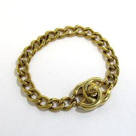 【中古】CHANEL チェーン ブレス ターンロック ココマーク ゴールド 96P