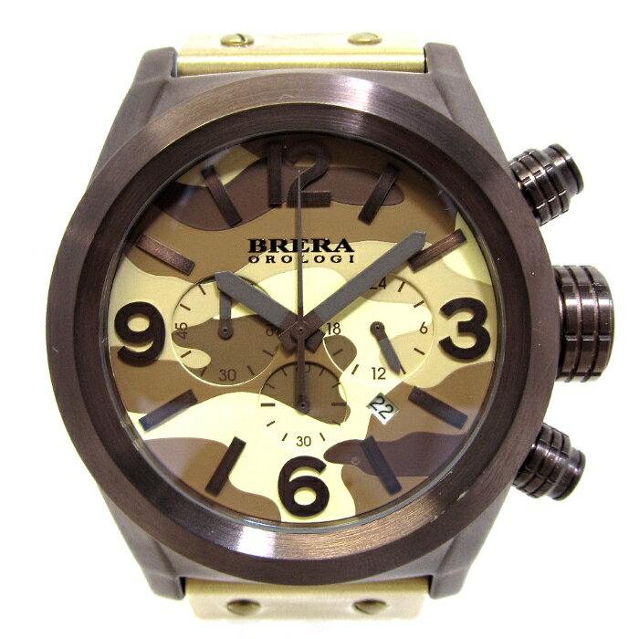 BRERA OROLOGI ブレラ オロロジ エテルノクロノ メンズ腕時計 SS ラバー クオーツ 文字盤迷彩 BRETC45 【新品同様】